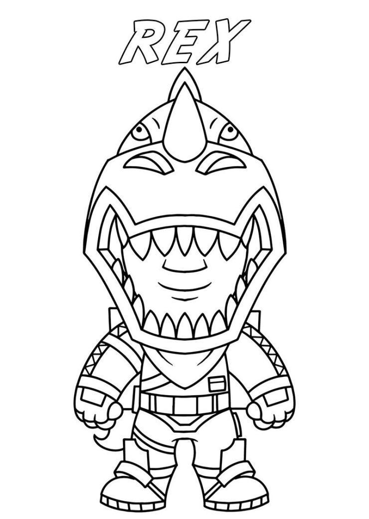 dibujo fortnite Rex