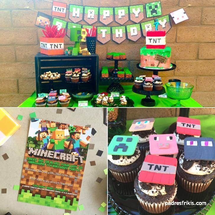fiestas infantiles videojuego minecraft