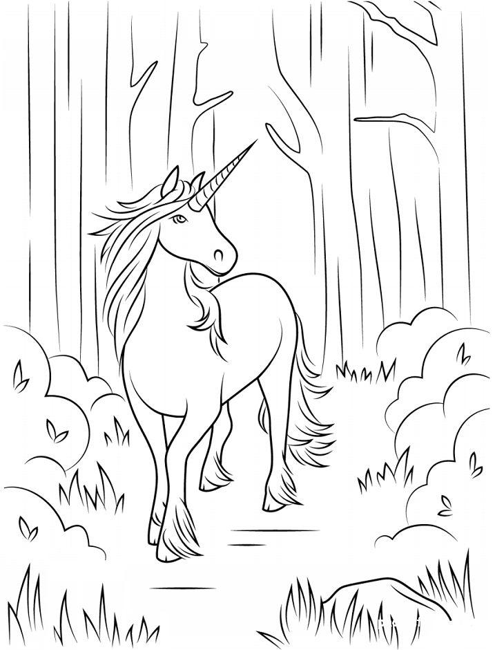dibujo de unicornio para imprimir