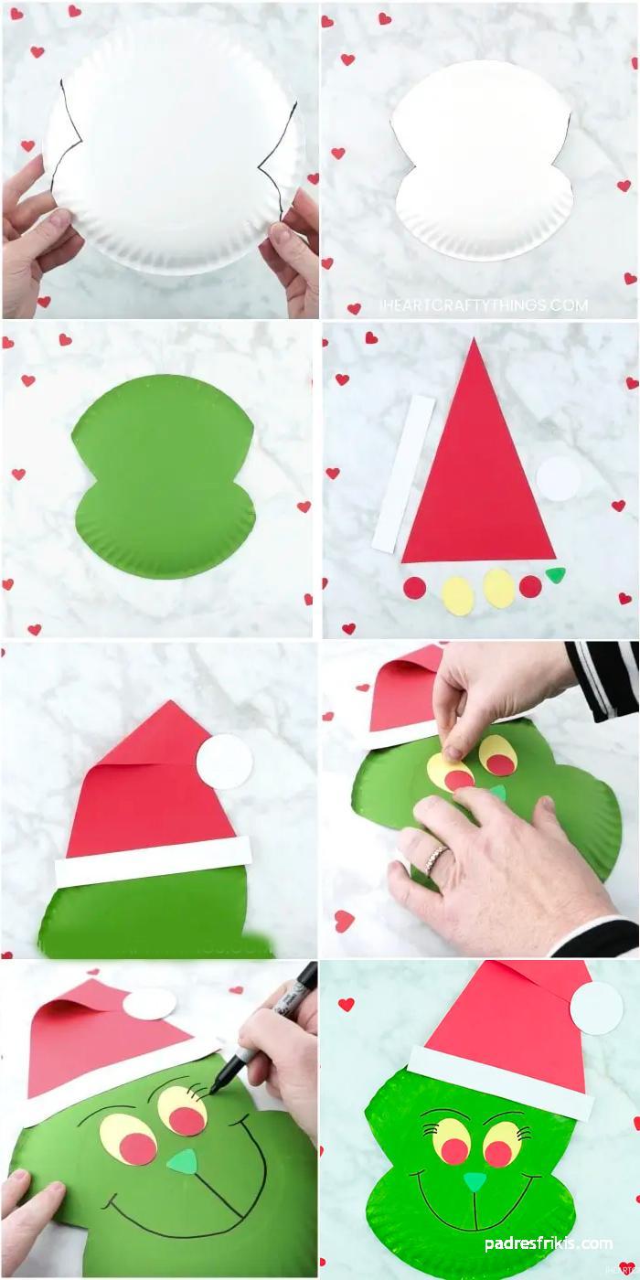 manualidad de Navidad con el Grinch
