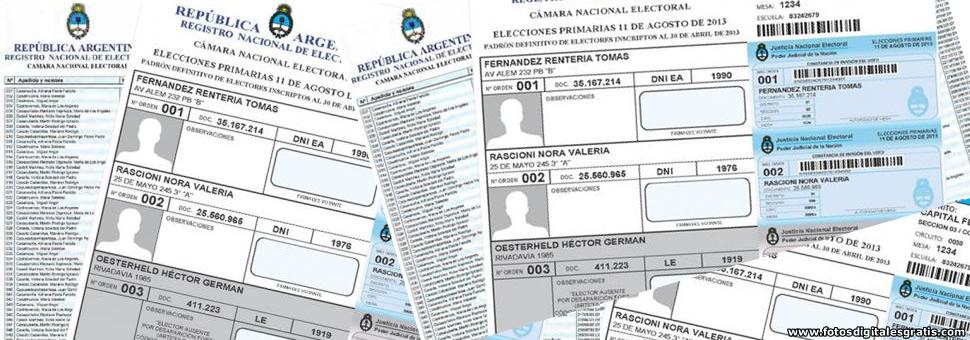 Padrón electoral nacional : aumentó un 10,58 por ciento para el 2015