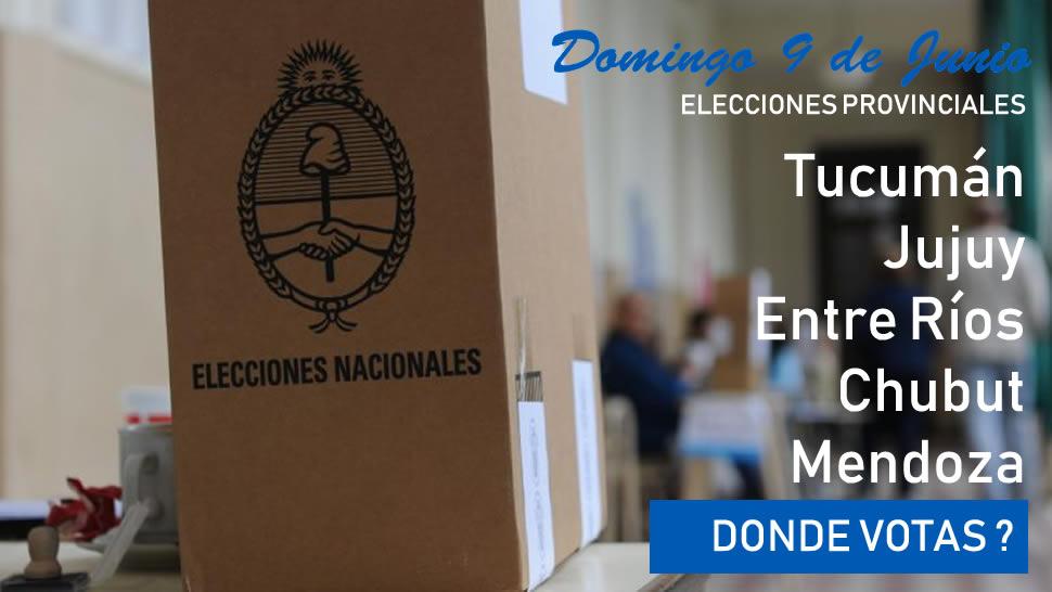 9/6 Super domingo de elecciones provinciales