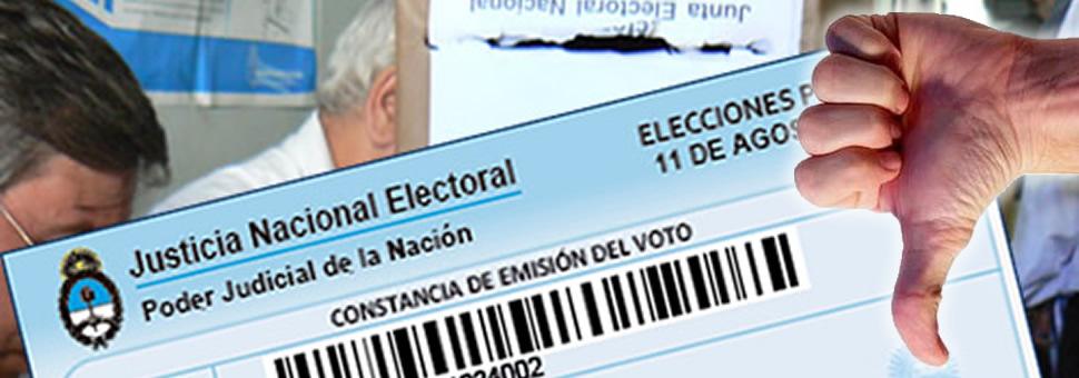 No voté : qué debo hacer ?