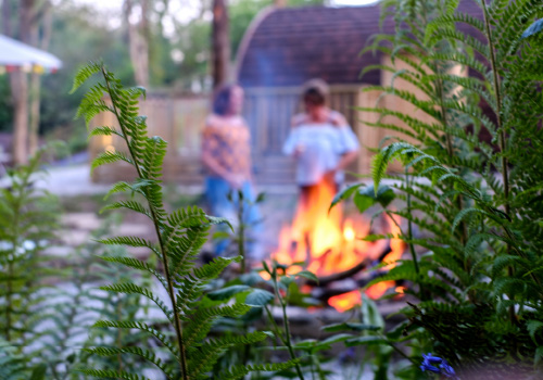 Padstow-creek-holiday-accommodation-cornwall-luxury-glamping-firepit-at-night-10