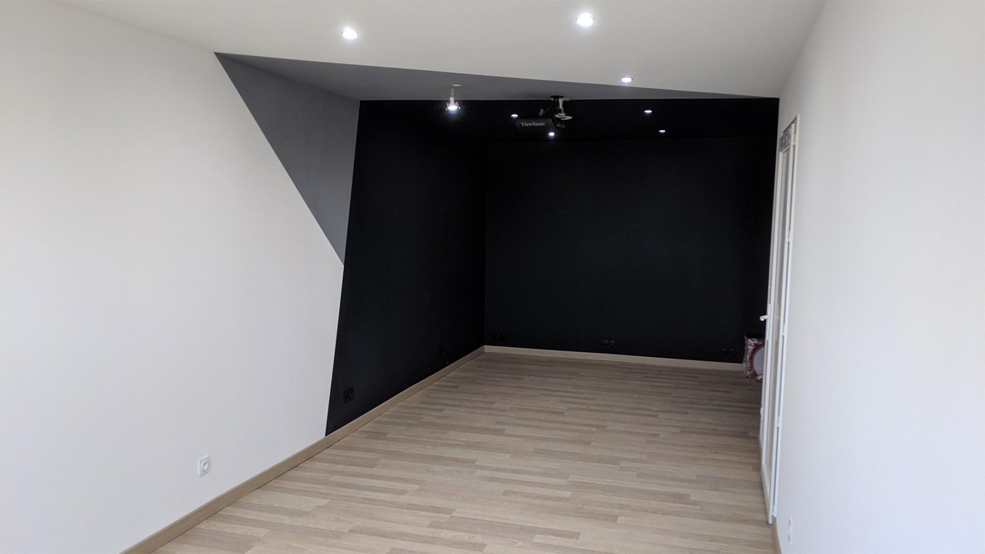 Peinture Pour Ecran Retroprojecteur média room/gaming room #2 : mur, peinture et sol - paduction