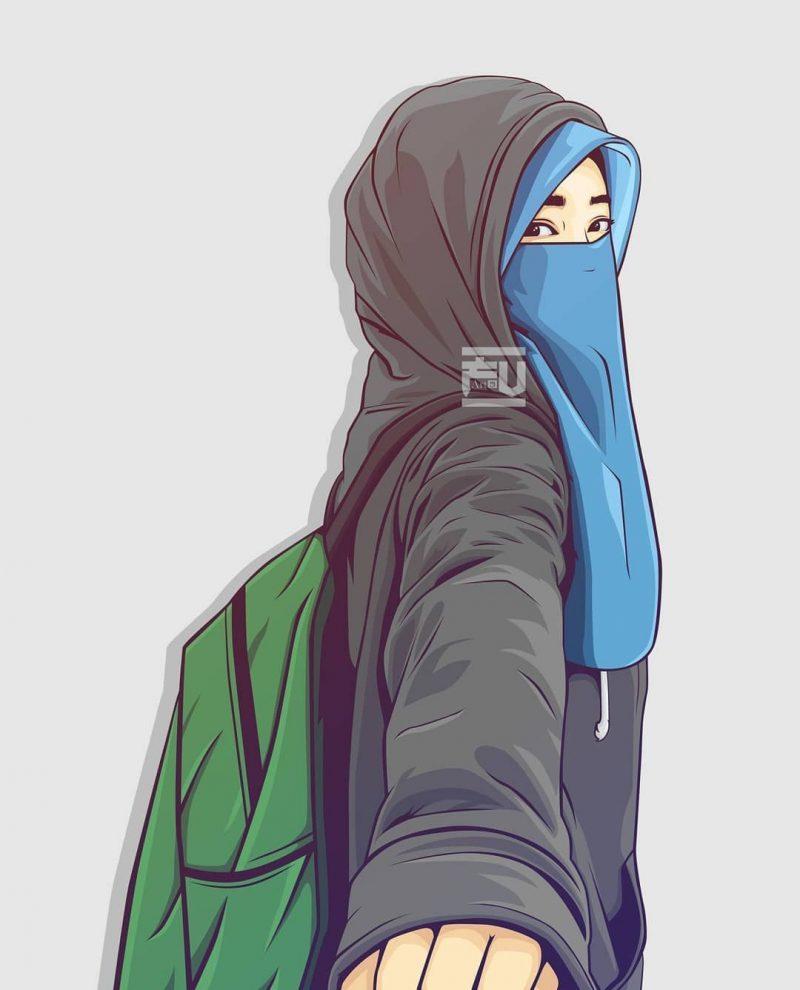 Lucu Gambar Kartun Muslimah Cantik Ban