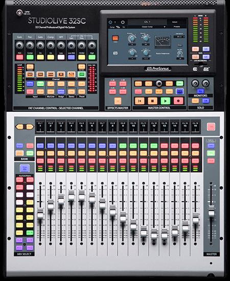 PreSonus StudioLive 32SC. Click for larger image.