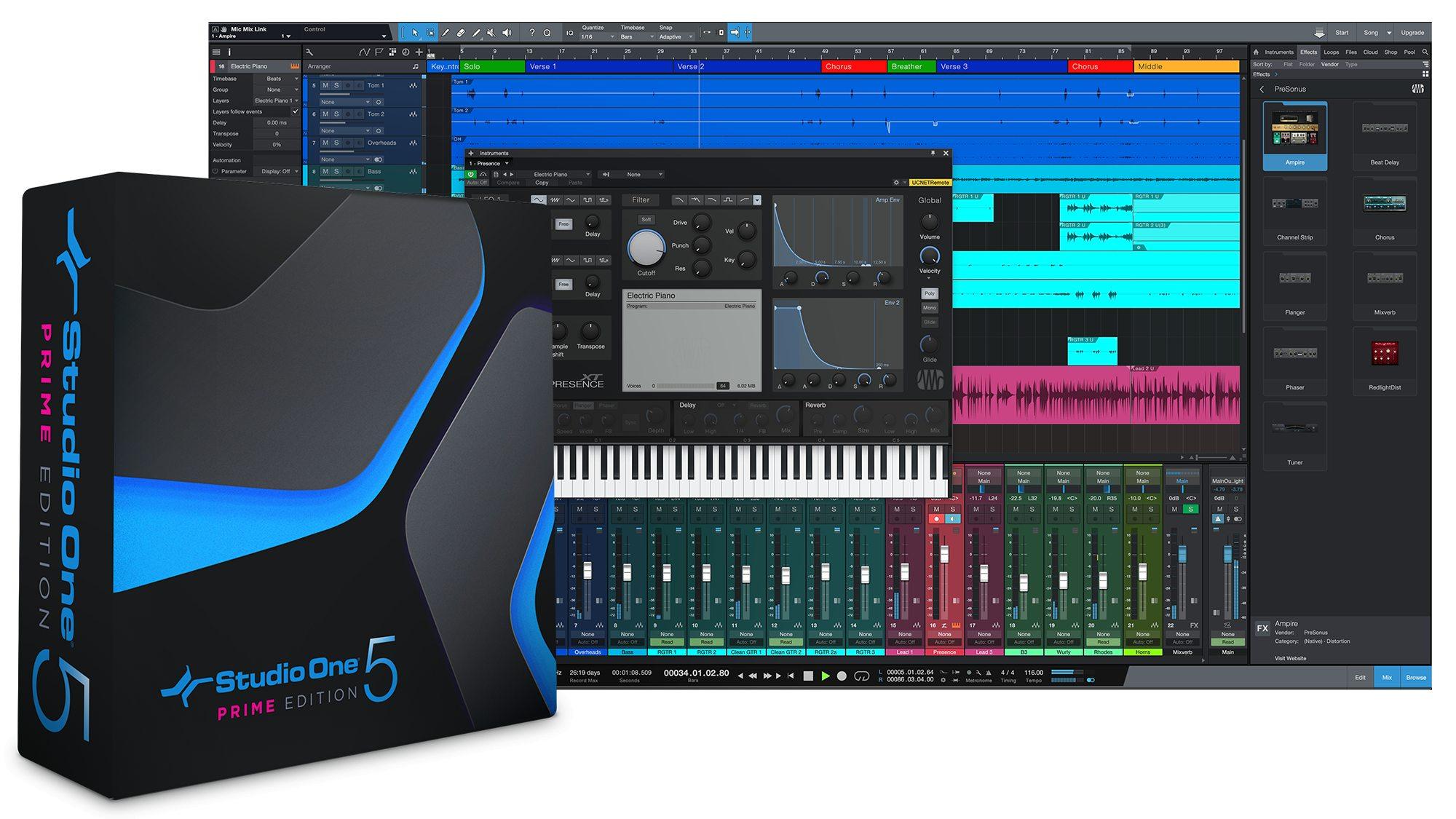 Studio One 5 Prime | PreSonus Shop