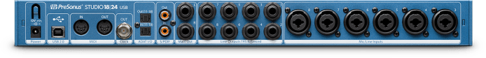 PreSonus Studio 18|24 rear view. Click for larger image.