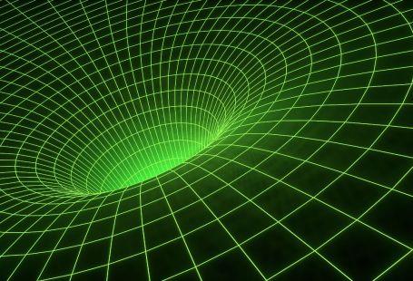Raumbiegung durch Gravitation