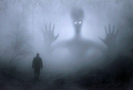 Geist im Waldnebel