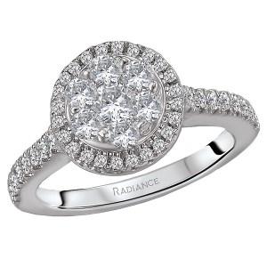 Round Halo Cluster Diamond Ring