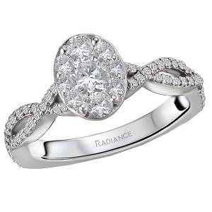 Infinity Oval Radiance Halo Diamond Ring