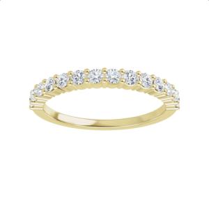 Yellow gold diamond anniversary ring
