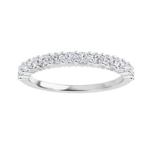 White or yellow gold diamond anniversary ring