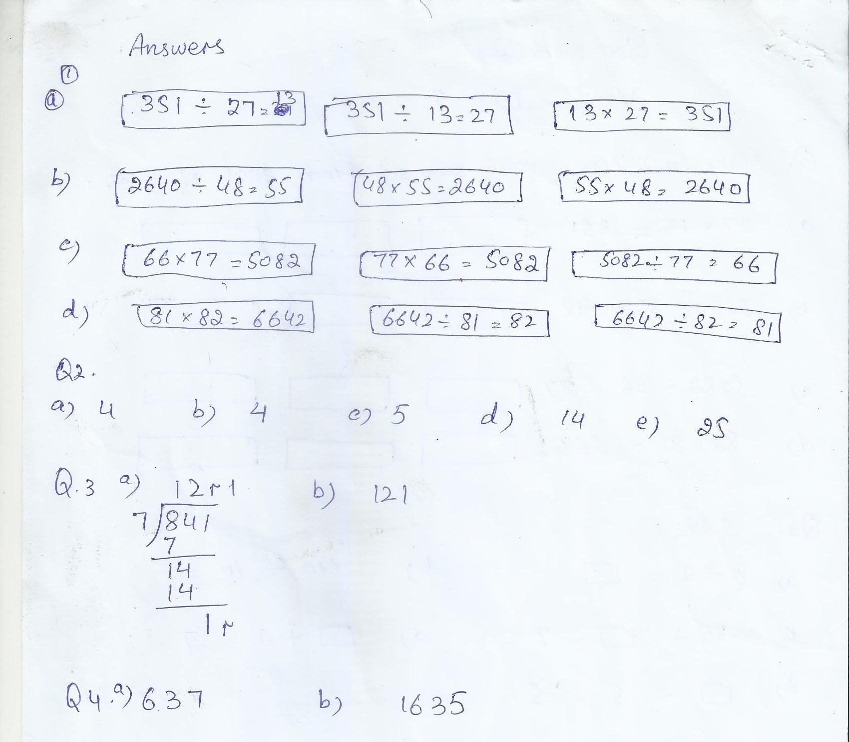 Math Blog Worksheet Class 5 Answer Key Paf Juniors