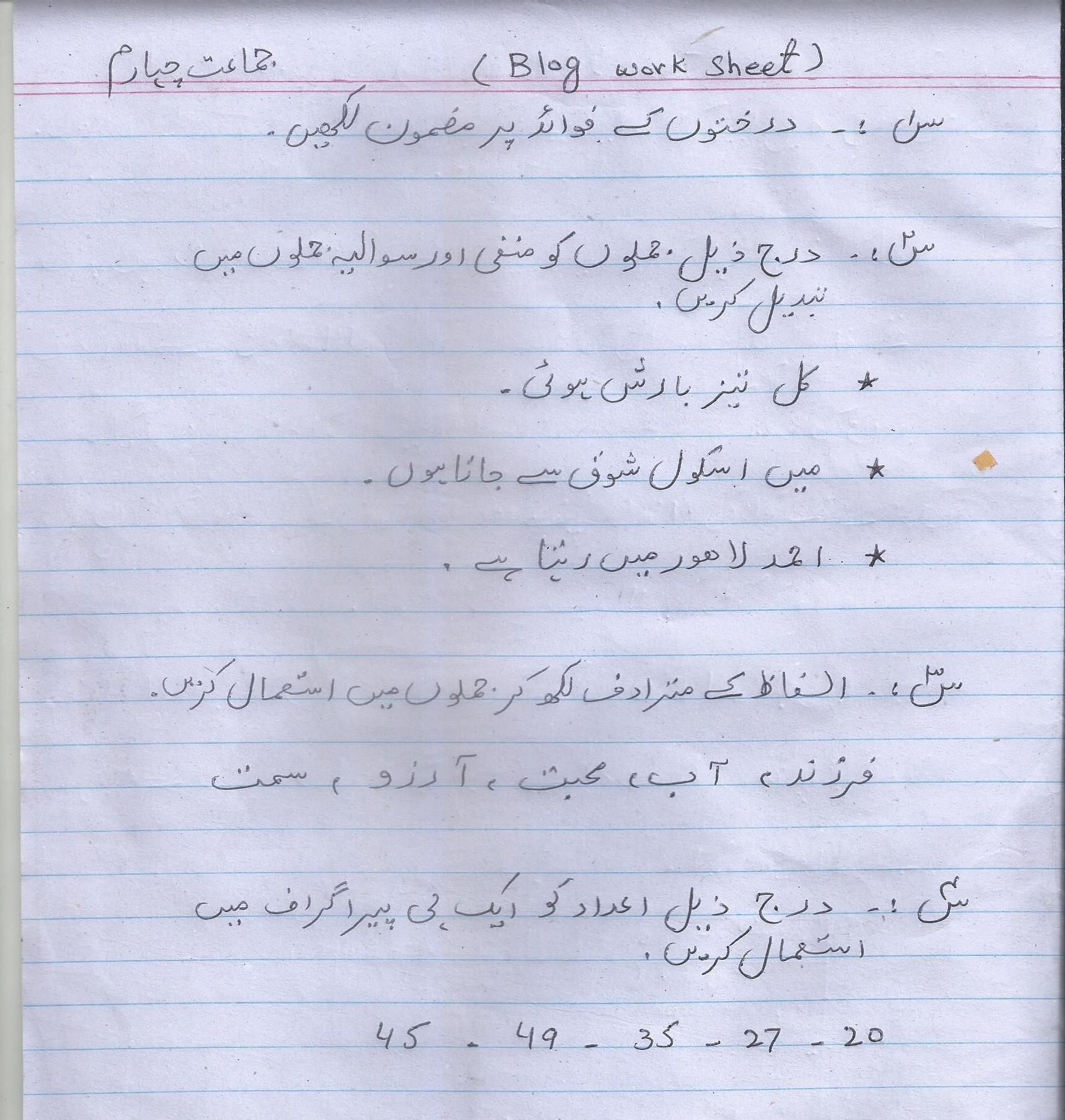 Urdu Bw Year 41