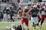 Logan Wiland had a huge day! 38 rushing attempts 178 yards and three touchdowns!