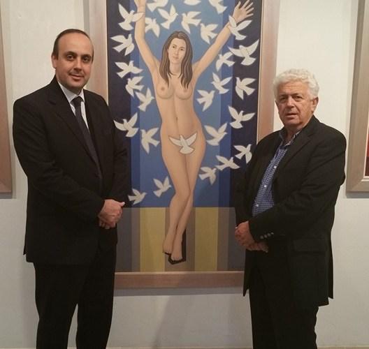 Έκθεση ζωγραφικής και ψηφιδωτού του Γιώργου Κοτσώνη