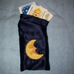 Tarot Bag with Embroidered Moon