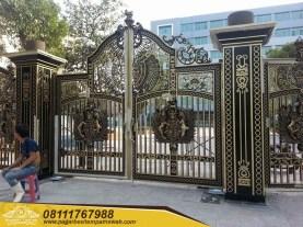Pagar Pintu Gerbang Besi Tempa (215)