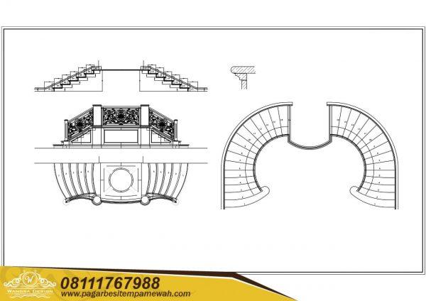 Railing Tangga Autocad DWG