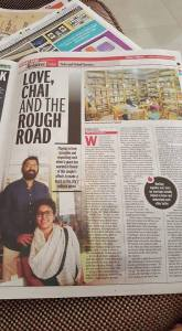 Love Chai and the Rough Road. Our Story Featured in Sunday Pune Mirror of 28th February 2016 Page 13
