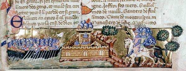Участники четвёртого крестового похода у Константинополя