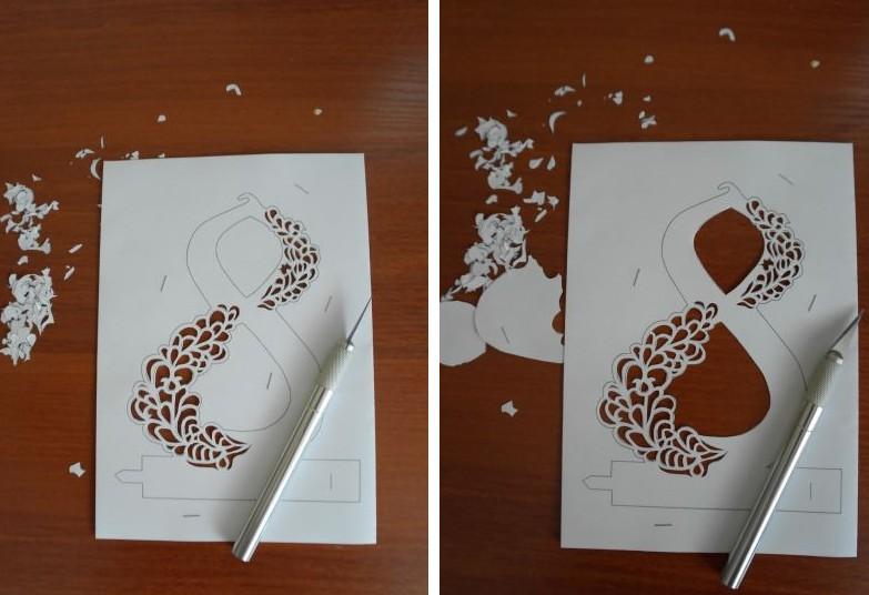 Открытки фото, как сделать самому открытку с 8 мартом