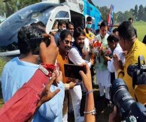 CM dhami reached kichha: