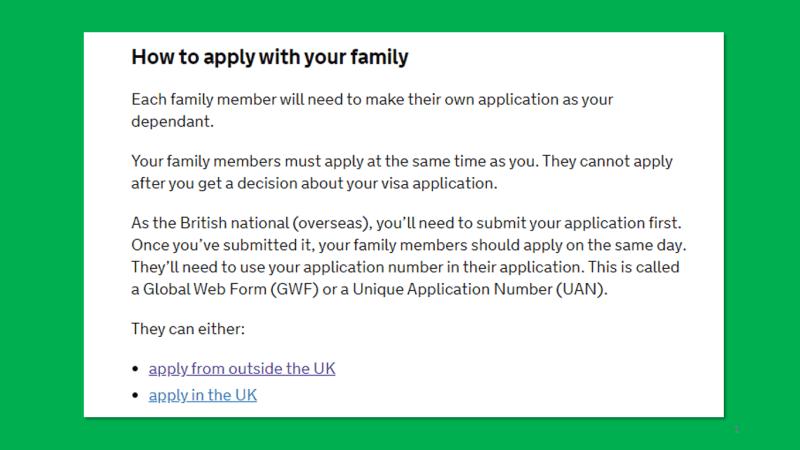 英國 BNO Visa 申請正式開始, BNO Visa apply with family