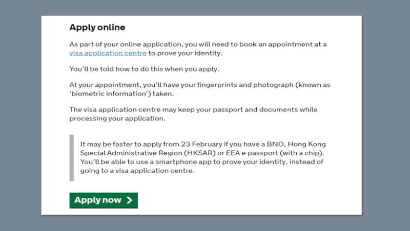 英國 BNO Visa 申請正式開始. BNO Visa apply online