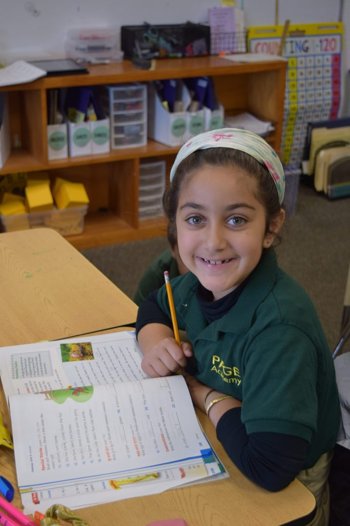 1st Grader at Page Academy
