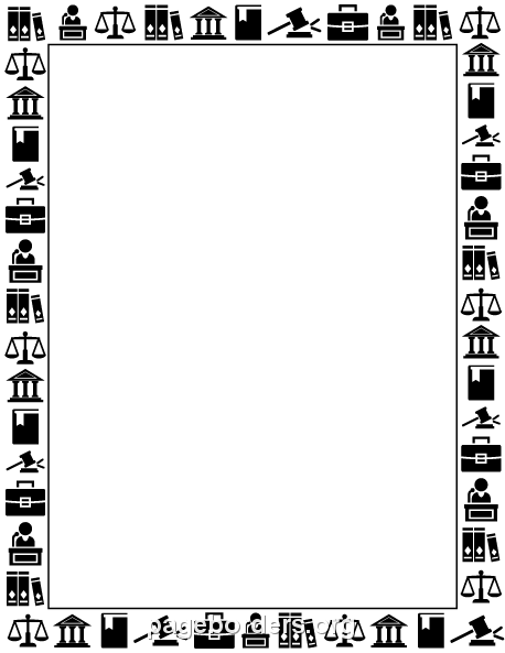 Law Border Clip Art Page Border And Vector Graphics
