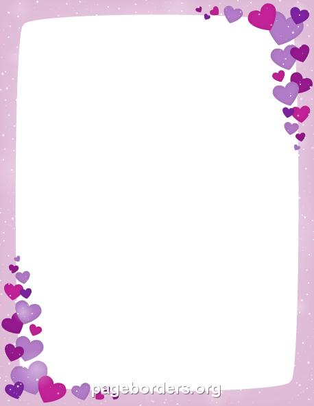Purple Valentine Border Clip Art Page Border And Vector