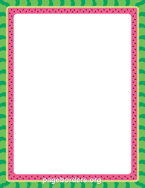 Watermelon Border Clip Art Page Border And Vector Graphics
