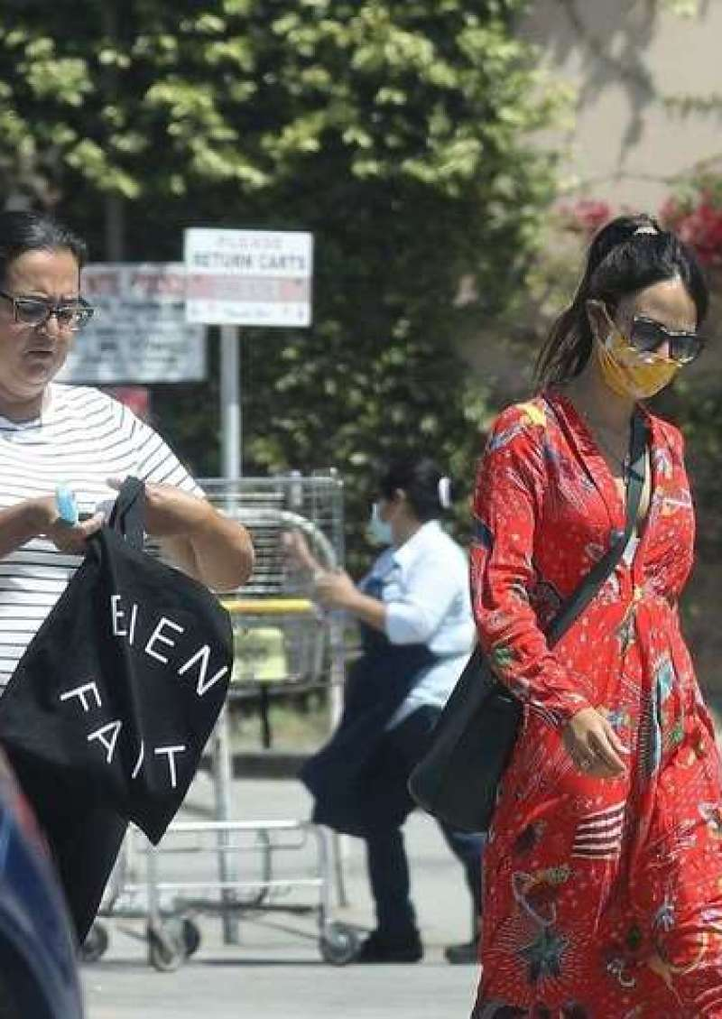 Jordana Brewster Spotted At San Vicente Food Market In Brentwood