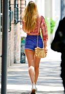 Candace Swanepoel Spotted Wearing Short Shorts In New York