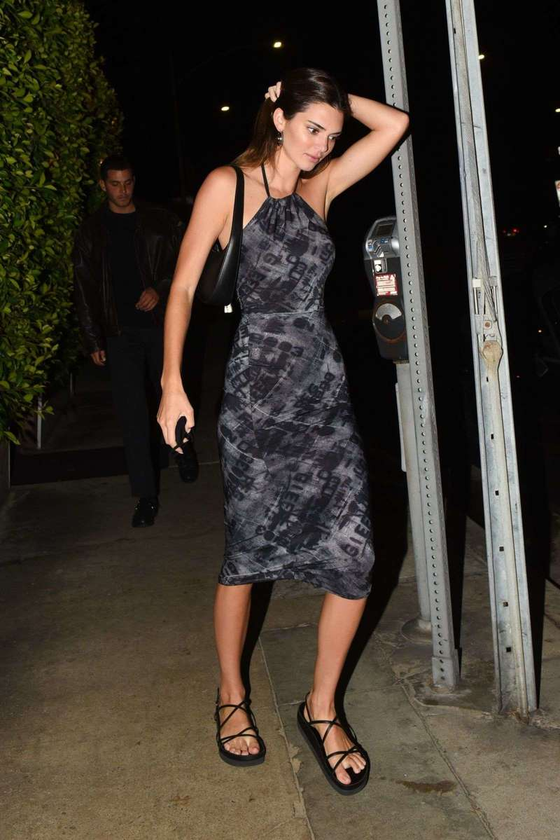 Kendall Jenner Dinner Date Photos with Her Friend at Giorgio Baldi in Santa Monica