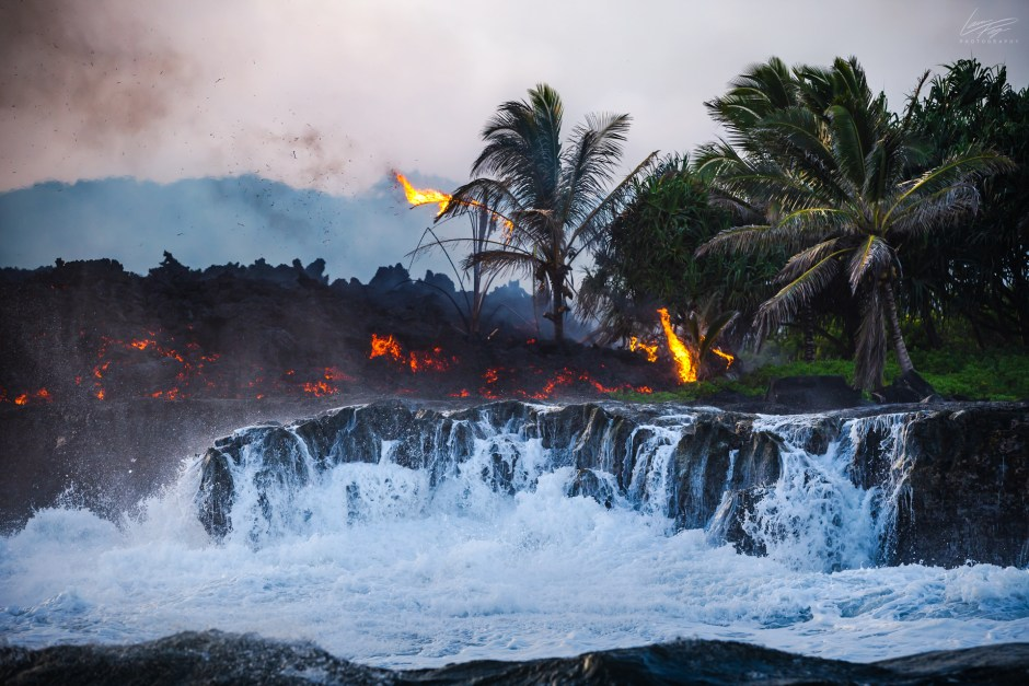 Lava Ocean Entry May 20th, 2018