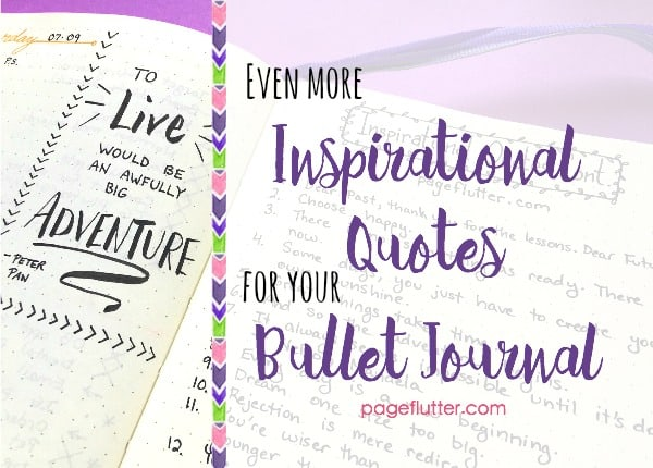 More Inspirational Quotes For Your Bullet Journal Page Flutter Simple Quotes Journal