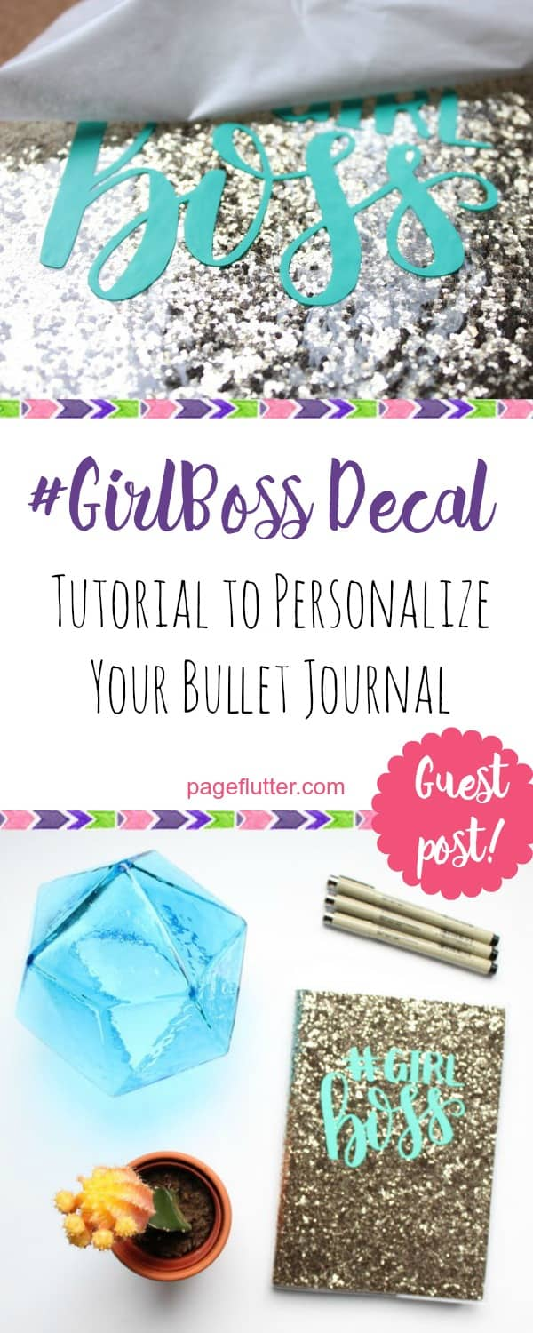 How to Customize Your Journal Cover With Vinyl (& Rock Your #GirlBoss) | pageflutter.com