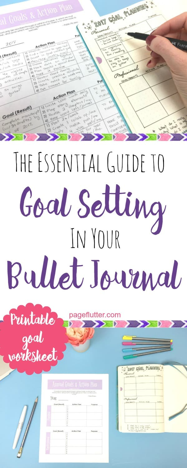 Essential Guide To Goal Setting In Your Bullet Journal Page Flutter