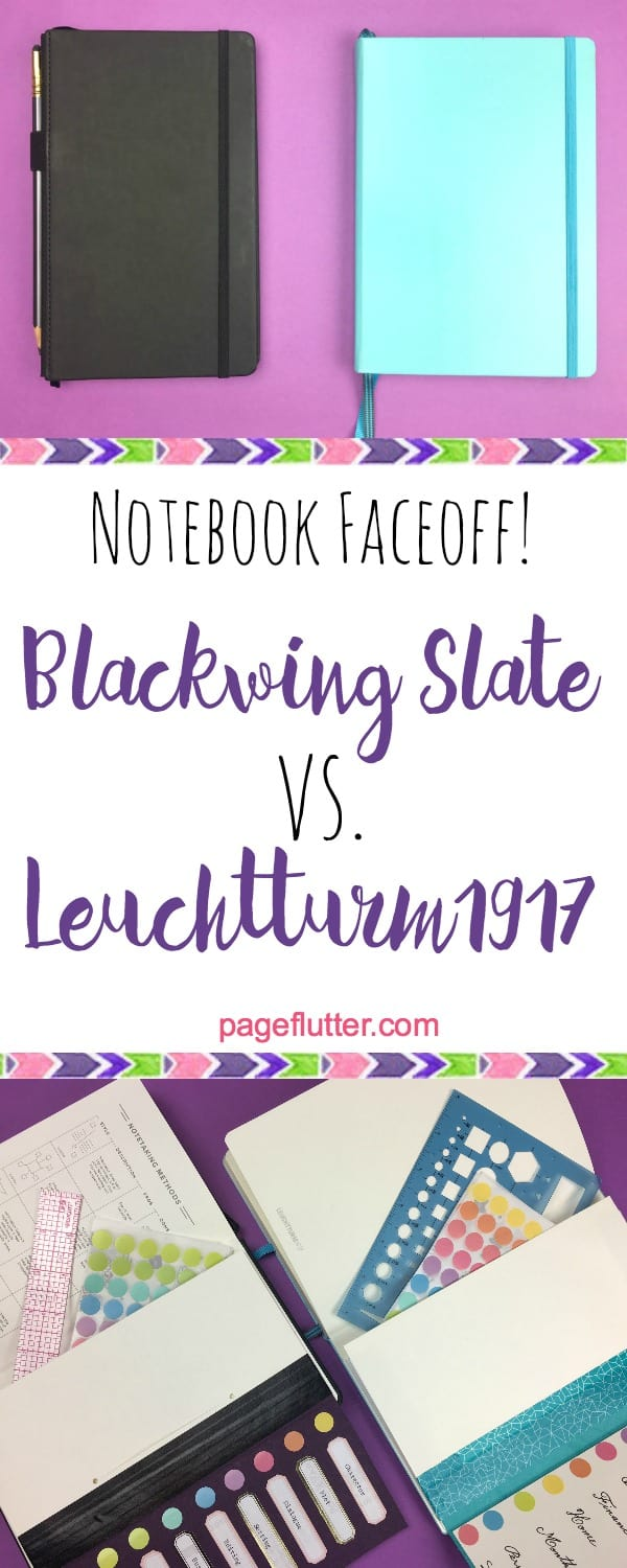 Which dotted notebook is your next bullet journal? Blackwing Slate vs. Leuchtturm1917| pageflutter.com