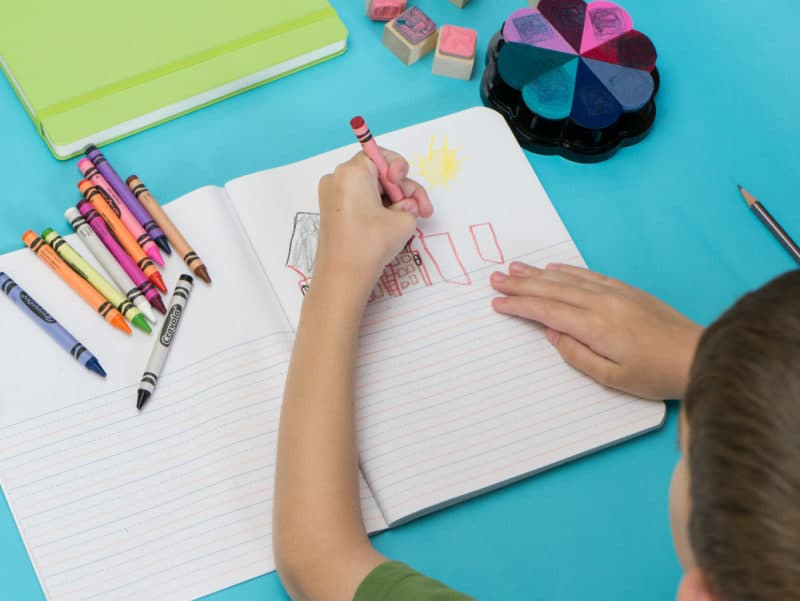 Try journaling with kids to teach them productivity, mindfulness, creativity, and writing skills!