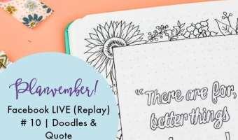 Planvember Day 10 | Bullet Journal Doodles & Quote