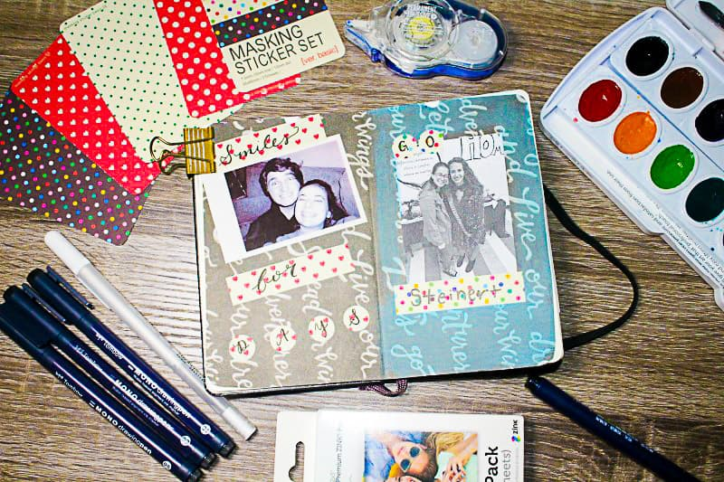 Smashbook ideas for an easy and casual approach to scrapooking, journaling, memory keeping, art journaling, and scrap journaling.