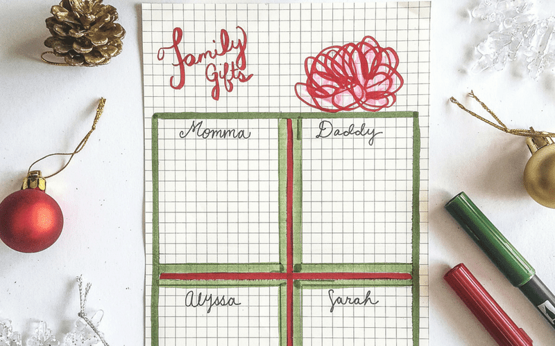 Journal layouts to make Christmas gift planning a breeze. #planner #organization