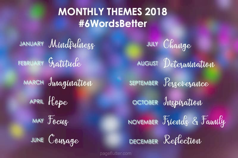 year to a better you march prompts 6 word story challenge
