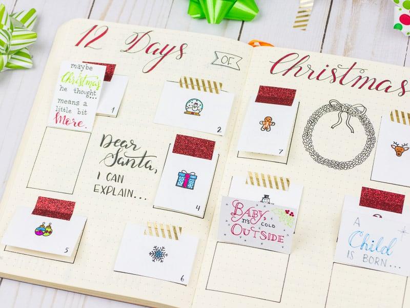 Diy Quote Calendar : Holiday journaling diy advent calendar and memory keeper